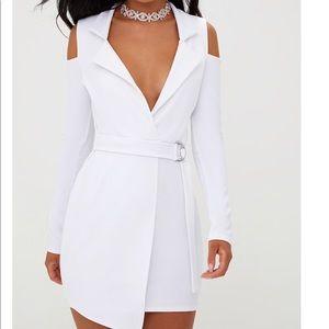 Shoulder Cut Out Mini Dress